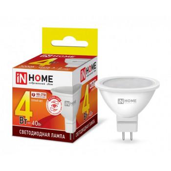 Лампа светодиодная ASD/InHome VC MR16 JCDR GU5.3 4W(310lm) 3000K 3K 51x50 (без пульсации) 0678