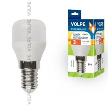 Лампа светодиодная Volpe для холод. и шв. машин E14 3W(250lm) 3000K 2K матовая 58x27 пластик LED-Y27-3W/WW/E14/FR/Z