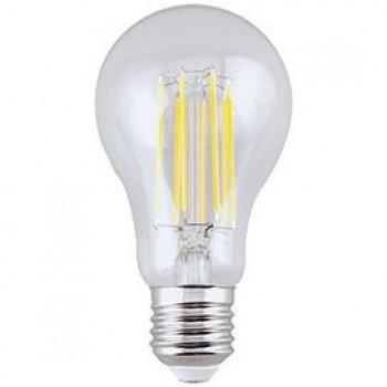 Лампа светодиодная Ecola ЛОН A65 E27 13W(1300Lm) 4000K 4K прозрачная 120x65 филамент (нитевидная) 360° Premium N7LV13ELC