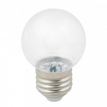 """Лампа светодиодная Volpe шар G45 E27 1W 3000K для гирлянды """"Белт Лайт"""" прозрачная LED-G45-1W/3000K/E27/CL/С"""
