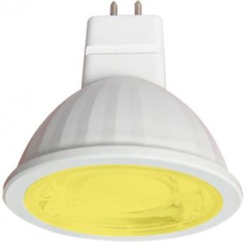 Лампа светодиодная Ecola MR16 GU5.3 220V 9W Желтый прозрачная 47x50 M2CY90ELT