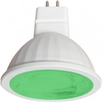 Лампа светодиодная Ecola MR16 GU5.3 220V 9W Зеленый прозрачная 47x50 M2CG90ELT