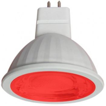 Лампа светодиодная Ecola MR16 GU5.3 220V 9W Красный прозрачная 47x50 M2CR90ELT