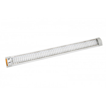 TDM светильник ЛПО 3017 2х36W T8 G13 алюминий, закрытый (с решеткой) L=1255 SQ0327-0038