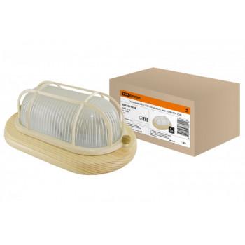 TDM светильник НПБ1202 сосна овал с реш. 100W IP54 (сталь, термостойкое стекло) (4!) SQ0303-0438
