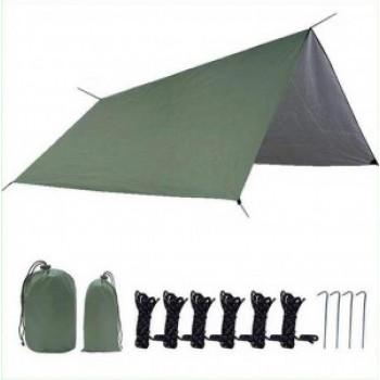 Тент универсальный 300*300см с колышками и веревками в сумке