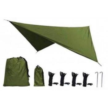 Тент универсальный 360*290 с колышками и веревками в сумке