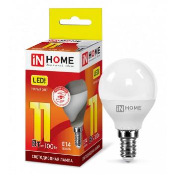 Лампа светодиодная ASD/inHome VC шар P45 E14 11W(820lm) 3000К 3K (без пульсации) 0587