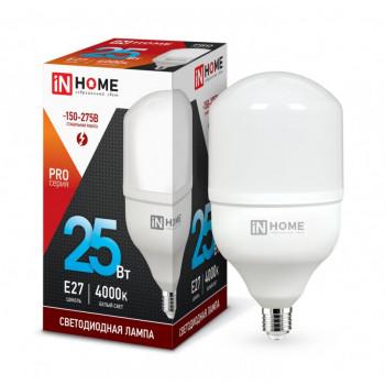 Лампа светодиодная ASD/InHome высокомощная E27 25W (2250lm) 4000К 4K 230V 144x80 HP-PRO 1057