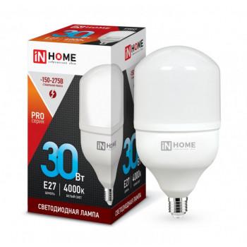Лампа светодиодная ASD/InHome высокомощная E27 30W (2700lm) 4000К 4K 230V 181x100 HP-PRO 1071