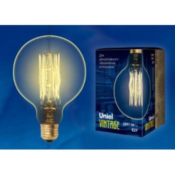 Uniel LOFT G125 E27 60W Шар винтажная лампа накаливания IL-V-G125-60/GOLDEN/E27 VW01