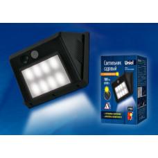 Uniel светильник на солн.батарее 8LED 3W 180lm h=12см с датч. движ., пластик/черный USL-F-163/PT120 SENSOR