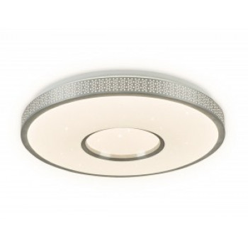 Ambrella светильник светодиодный управляемый люстра FF81 48W(3600lm) 3K-4K-6K D400x80 пульт ДУ WH белый