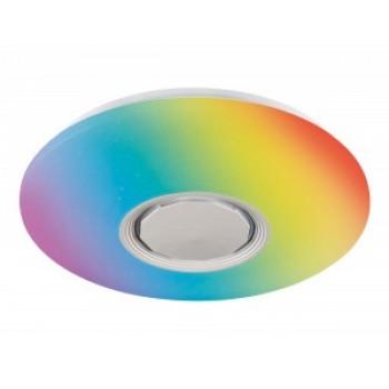 Ambrella светильник светодиодный управляемый муз. FF200 48W(3360lm) RGB 3K-4K-6K d395x80 динамик пультДУ WH/CH(A-play)