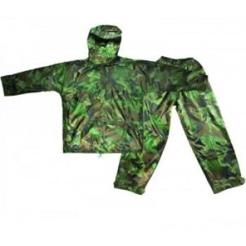CELLTIX Дождевик (куртка с капюшоном + штаны) XXXXL, цвет Хаки, прорезиненный, 180мкр., с